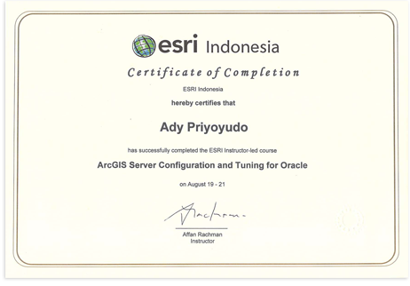 Training – ArcGIS Server Configuration and Tuning for Oracle